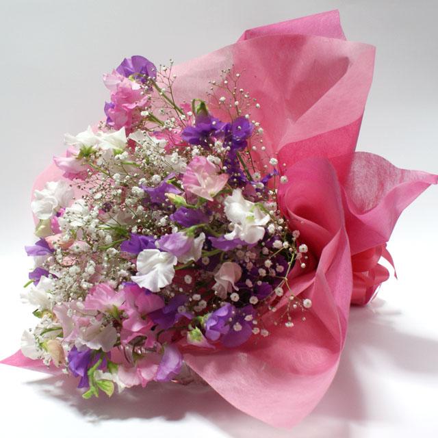 スイトピー花束
